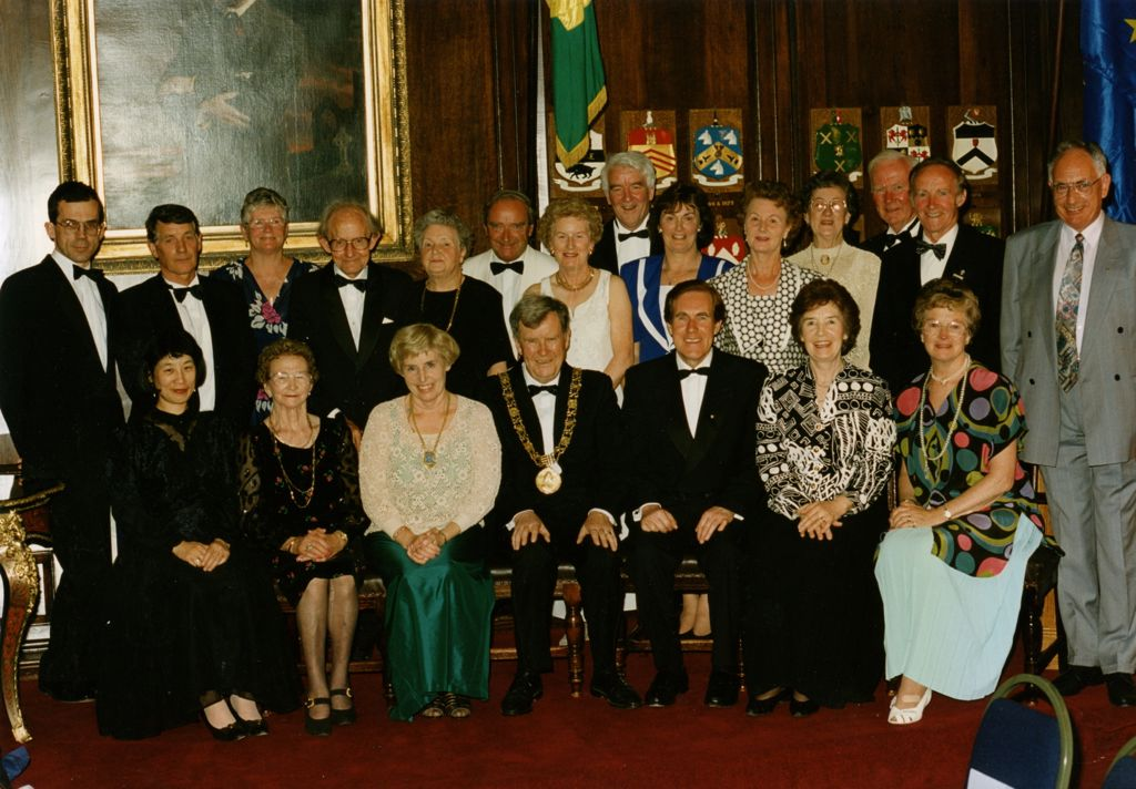 Labhrás Ó Murchú with friends at the Dublin Civic Award ceremony in the Mansion House.